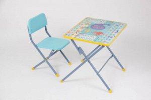 *Набор мебели Фея досуг №201, Океан, стульчик и столик, цвет голубой