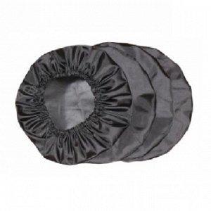 Чехол на колеса, 4 шт, цвет черный
