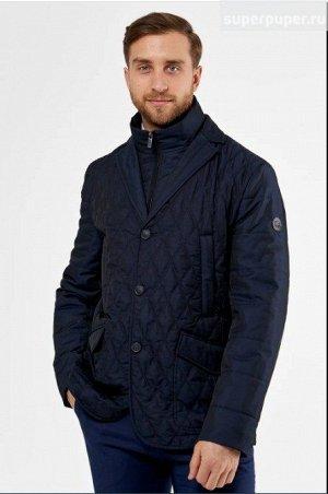 Мужская куртка текстильная на синтепоне с отделкой из трикотажа