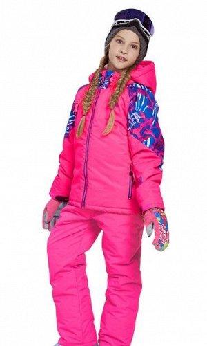 Детский лыжный костюм (розовая куртка; розовые штаны)