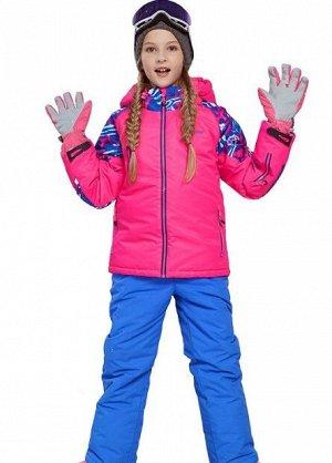 Детский лыжный костюм (розовая куртка; синие штаны)