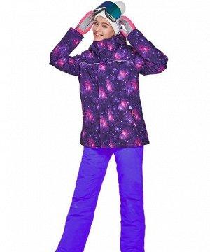 Женский лыжный костюм (куртка, цвет фиолетовый; фиолетовые штаны)