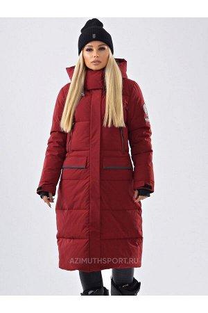 Женское пальто Azimuth В 20684_94 Бордовый