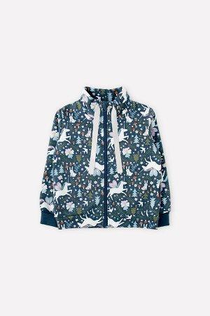 Куртка для девочки Crockid КР 301570 синий, лесная фея к309