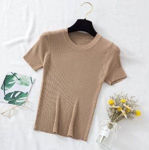 Женская футболка-лапша, цвет хаки