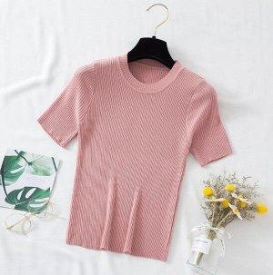 Женская футболка-лапша, цвет розовый