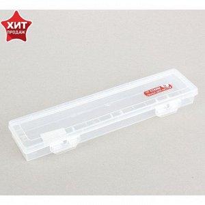 Пенал для кистей, футляр пластиковый, 350 x 85 x 35 мм, «Стамм», прозрачный