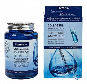 Farm Stay Collagen&Hyaluronic acid all-in-one ampoule Омолаживающая ампула с коллагеном и гиалуроновой кислотой 250 мл
