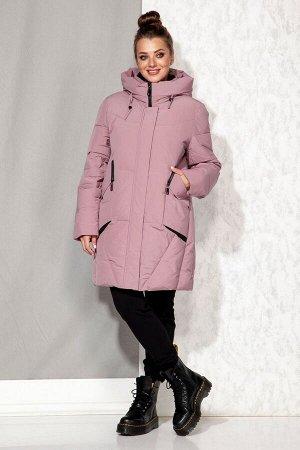 Пальто Пальто Beautiful&Free 4065 розовый  Состав: ПЭ-100%; Сезон: Осень-Зима  Полупальто женское, зимнее, из гладкокрашеной полиэфирной ткани с синтетическим наполнителем, который практически неощут
