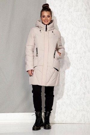 Пальто Пальто Beautiful&Free 4065 бежевый  Состав: ПЭ-100%; Сезон: Осень-Зима  Полупальто женское, зимнее, из гладкокрашеной полиэфирной ткани с синтетическим наполнителем, который практически неощут