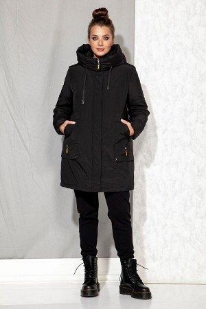 Пальто Пальто Beautiful&Free 4062 черный  Состав: ПЭ-100%; Сезон: Осень-Зима  Полупальто женское, зимнее, из гладкокрашеной хлопкополиэфирной ткани, с утепляющей подкладкой из 2-х слоев синтепона на