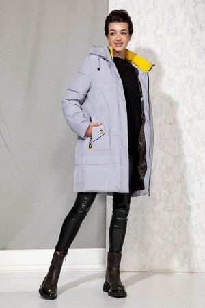 Пальто Пальто Beautiful&Free 4063 серо-голубой  Состав: ПЭ-100%; Сезон: Осень-Зима  Полупальто женское, зимнее, из гладкокрашеной полиэфирной ткани на подкладке с несъёмным капюшоном. Синтетический н