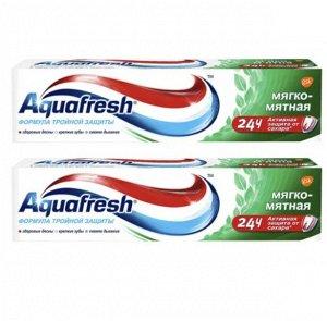 AQUAFRESH  Зубная паста мягко-мятная 50мл