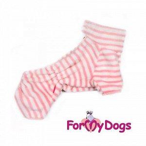 Комбинезон для собак р20, спинка 39см для девочек бело/розовый Formydogs