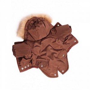 Комбинезон утепленный Winter парка р.XS, спинка 20см с капюшоном светло-коричневый LION