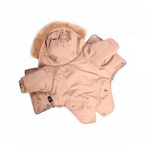Комбинезон утепленный Winter парка р.ХL, спинка 40см с капюшоном светло-коричневый (бежевый) LION