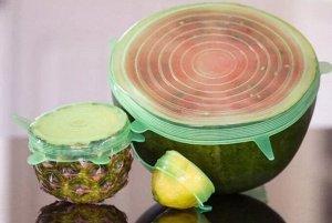 Набор силиконовых крышек для посуды (6шт)