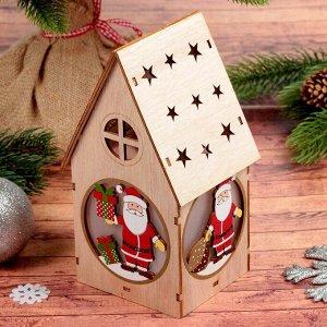 Декор с подсветкой «Домик с подарочком»