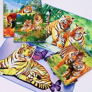 Вафельные полотенца тигр