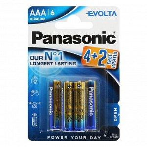 Батарейки PANASONIC EVOLTA LR03/6BP (4+2) (Цена за 6шт.)