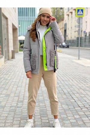 Женская куртка 866 серая