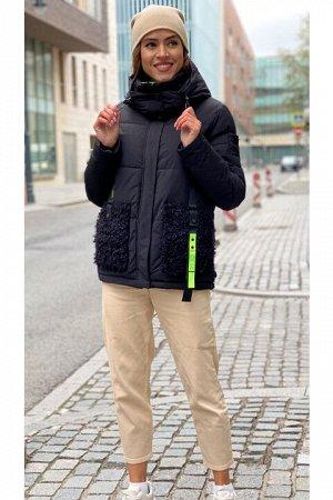 Женская куртка 866 черная