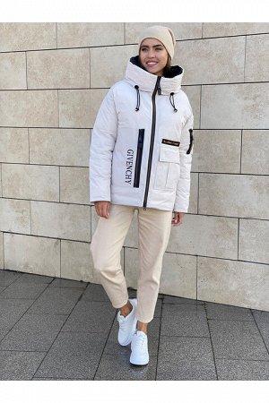 Женская куртка 9012-B164 бежевая