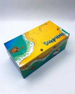 Салфетки бумажные в коробке (желтая) SeaPrim