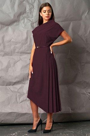 Платье Платье Mia Moda 1053-23  Состав: ПЭ-100%; Сезон: Осень-Зима Рост: 164  Стильное молодежное женское платье подойдет и для деловой жизни, и для повседневной.Верхняя часть платья ассиметричная,пе