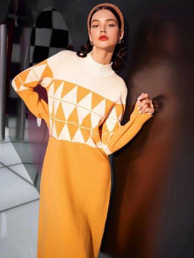 Зима близко! Утепляемся теплой и красивой одеждой — Вязанные платья длинные