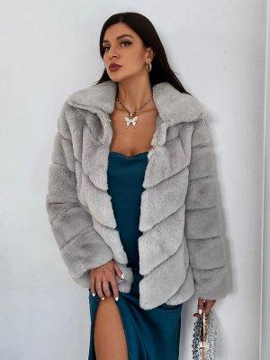 Пальто плюшевый