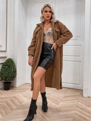 Пальто с карманом