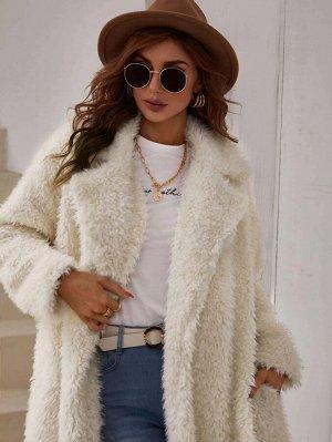 Пальто с лацканами со скрытым карманом