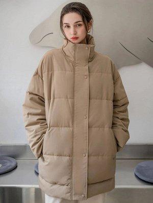 Зимнее пальто на пуговицах