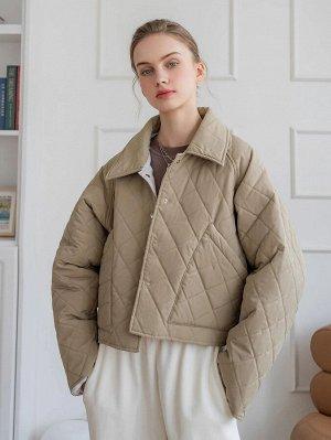 Зимнее пальто с рукавом-реглан стеганый