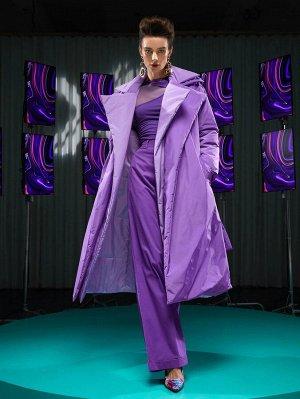 С поясом Одноцветный Элегантный Женские зимние пальто