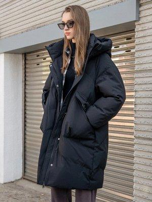 С карманами Одноцветный Повседневный Женские зимние пальто