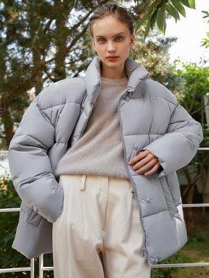 Зимнее пальто на молнии