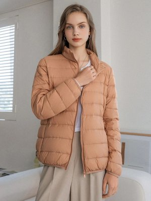 Пуховое пальто на молнии