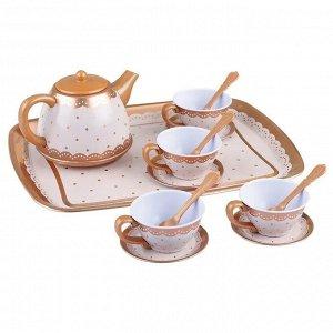 Игровой набор металлической посуды для чаепития