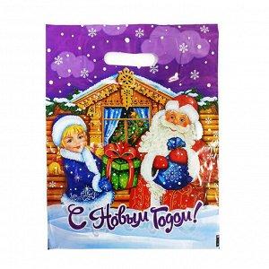 """Пакет вырубной типа """"Нивея"""" """"Дед Мороз с подарками"""" 32*40см (50шт)"""