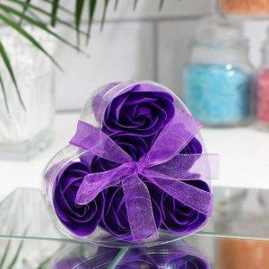 Мыльные розочки, фиолетовые, набор 6 шт.