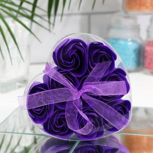 Мыльные розочки, фиолетовые, набор 9 шт.