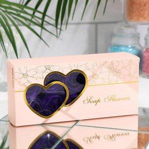 Мыльные розочки, фиолетовые, набор 10 шт.