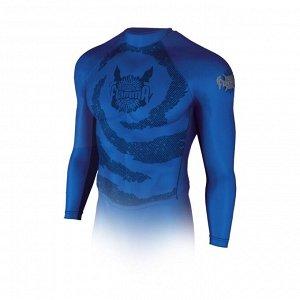 Рашгард с длинным рукавом FLAMMA Inferno, blue