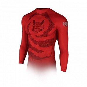 Рашгард с длинным рукавом FLAMMA Inferno, red