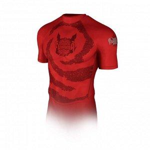 Рашгард с коротким рукавом Flamma Inferno, red