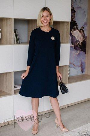 Платье П 799 (темно-синий)