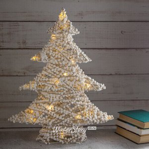 Декоративная светящаяся елочка Фрости 60 см, 20 теплых белых мини LED ламп, на батарейках (Kaemingk)