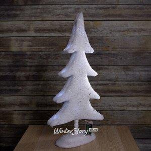 Декоративная светящаяся елка Лапландия 60 см на батарейках, 12 холодных белых LED ламп (Peha)